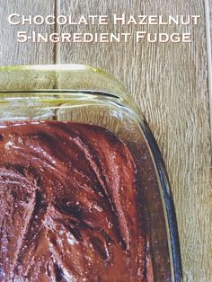 Vegan Nutella 5-Ingredient Fudge Recipe - This healthier hazelnut butter chocolate treat is an easy from-scratch recipe with pure wholesome ingredients. Naturally dairy-free, gluten-free, soy-free and paleo optional.