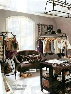 Vintage Dressing Closet in a spare bedroom - amaze. I want to do this with my spare bedroom! Spare Room Closet, Dressing Room Closet, Closet Bedroom, Diy Bedroom, Dressing Rooms, Dressing Area, Loft Closet, Extra Bedroom, Bedroom Small