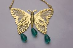 Long butterfly necklace