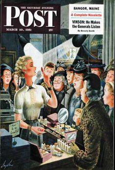 1951-03-10: Makeup Counter (Constantin Alajalov) Saturday Evening Post