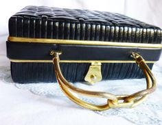 Black Lesco Lona Basket Purse with Gold by LauraDarlingDeluxe, $22.00
