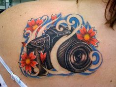 Beautiful DSLR Camera Tattoo