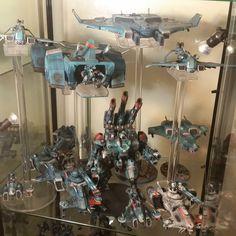 Tau Battlesuit, Warhammer Tabletop, Tau Empire, War Hammer, Star Wars Collection, Warhammer 40000, Color Pallets, Monsters, Color Schemes