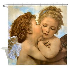 """Is not a kiss the very autograph of love?""~ Henry Finck Art by William Adolphe Bouguereau ~The First Kiss~ Real Angels, I Believe In Angels, Angels Among Us, Angels In Heaven, Heavenly Angels, Fallen Angels, William Adolphe Bouguereau, Decoupage, Vintage Illustration"