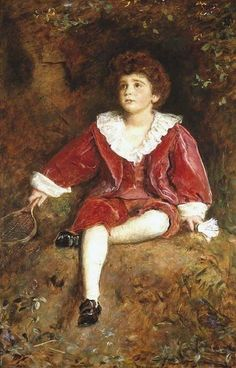 Sir John Everett Millais,1895-96, The Honourable John Neville Manners. Oil on canvas. Private collection.  This painting is amongst Millais' very last works and was exhibited at his last Royal Academy show in 1896. In the same year he was elected to the Presidency of the Royal Academy