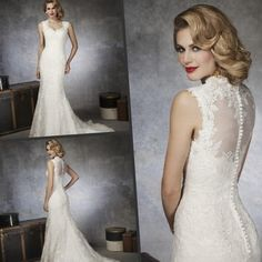 Свадебное платье с кружевной спиной - http://1svadebnoeplate.ru/svadebnoe-plate-s-kruzhevnoj-spinoj-2956/ #свадьба #платье #свадебноеплатье #торжество #невеста