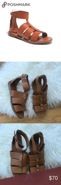 Madewell Rowan Leather Brown Gladiator Sandals Madewell Rowan Leather Brown Gladiator Sandals. Size 6. EUC. Madewell Shoes Sandals