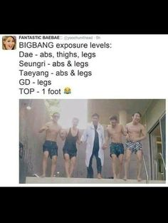 Too much exposure for Top! The only one I know who will jump into a pool wearing a bathrobe and then some lol Lol love top Big Bang Daesung, Vip Bigbang, Big Bang Memes, Big Bang Kpop, Bang Bang, K Pop, Choi Seung Hyun, G Dragon, Vixx