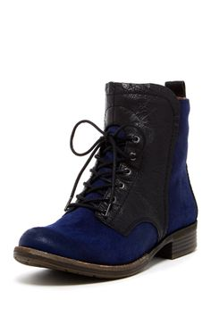 Naya Agave Lace-Up Bootie