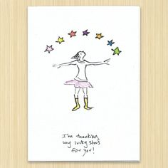 Thank You Card I'm Thanking My Lucky Stars For by Rosieswonders