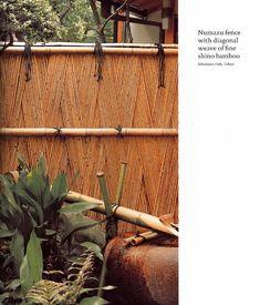 numazu fence w diagonal weave of shino bamboo