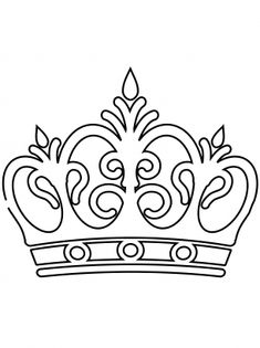 Queen Crown Coloring Page Royal Crown Coloring Sheets Crown Template Crown Drawing Pretty Crown Coloring Page For Girls Printable Free Coloring Pages Crown King Queen Page Free Free Printable Coloring Sheets, Templates Printable Free, Printables, Owl Templates, Applique Templates, Applique Patterns, Crown Stencil, Crown Printable, Crown Drawing