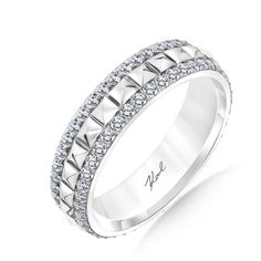 Say YES with Karl! Karl Lagerfeld 18K White Gold Eternity Ring, with 0.84 Cttw., H Color, VS Clarity Average Diamonds #karllagerfeld #weddingring