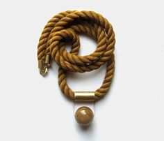 COGNAC MOKUBA ROPE NECKLACE by Sew A Song