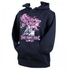 Cowgirl Hardware Ladies Black/Pink Barrel Racing Jacket