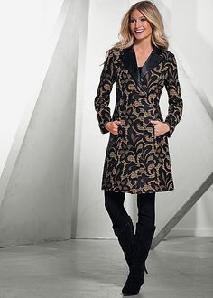 LACE COAT, SLIMMING STRETCH JEGGING, FRONT RUCHED BOOT