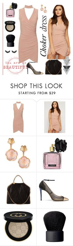 """Choker dress"" by carlina-tof ❤ liked on Polyvore featuring WearAll, Pasquale Bruni, Victoria's Secret, STELLA McCARTNEY, Jimmy Choo, Gucci and NARS Cosmetics"