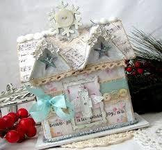 Paper+Mache+Christmas+Houses | paper mache house