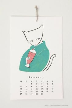 2014 Cats I Know Wall Calendar If you're looking for a unique, beautiful cat calendar to help ease you into than look no further th. Cat Calendar, Print Calendar, 12 Image, Interactive Design, Cat Love, Decoration, Cat Art, I Know, Things To Come