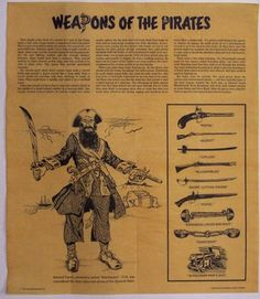 pirate weapons | Pirate Weapons Parchment Document]