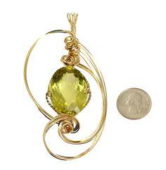 Brand New! Amazing 102.5 CT Green Gold Quartz 14K Gold-filled Pendant https://www.johnsbrana.com/products/green-gold-quartz-14k-gold-filled-pendant