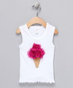 Take a look at this Hot Pink Shabby Bling'n Cone Tank - Infant, Toddler & Girls by Paddi Cake Bowtique on #zulily today!