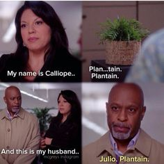 Calliope and Julio Plantain Anatomy Humor, Greys Anatomy Funny, Grays Anatomy Tv, Grey Anatomy Quotes, Grey Quotes, Tv Quotes, Trauma, Callie Torres, Dark And Twisty