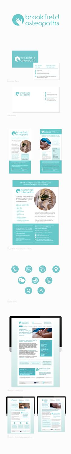 Brookfield Osteopaths branding by Jen Devonshire, via Behance