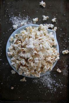 new twists on old snacks: Lemon Coconut Popcorn