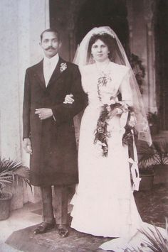 Circa 1910…Wedding of George Thomas  Patricia…George an Indian Christian was later knighted and became the Chief Justice of the High Court of Awadh.