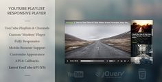 Modern HTML5 Responsive Youtube Playlist Player - https://codeholder.net/item/html5/modern-html5-responsive-youtube-playlist-player