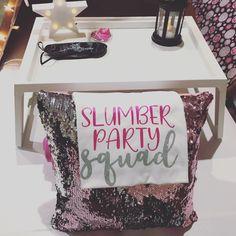 Sleepover Squad Tote Eyelashes Matching Slumber Party Sleep Over Girl/'s Birthday Party Sleepover Party Supplies Glam Girl Sleep Over
