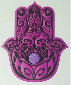 [ Depicting the open right hand, an image recognized and used as a sign of protection in many societies throughout history, the hamsa is believed to provide defense against theevil eye. The symbol predates Christianity and Islam. Jewish Tattoo, Om Art, Hamsa Art, Zen, Hamsa Design, Turkish Pattern, Hamsa Tattoo, Om Symbol, Celtic Dragon