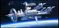Orbital space shipyard by TCHI by Up-Tchi.deviantart.com on @DeviantArt