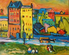 "KANDINSKY: ""Houses in Munich"", 1908"