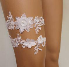 FREE SHİP Wedding Gartersİvory Lace Bridal