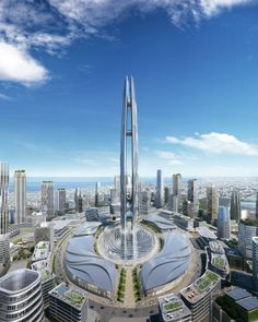 Dubai is building a new skyscraper it will be 500 meters tall and it's facade will be covered with digital displays : Luxurylaunches Futuristic City, Futuristic Architecture, Amazing Architecture, Chinese Architecture, Architecture Office, Contemporary Architecture, Future Buildings, Modern Buildings, Office Buildings
