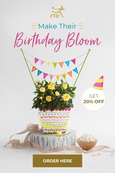 Surprise your special recipient on their big day with a true celebration of color and life. Birthday Bouquet, Birthday Cake, Birthday Surprises, Birthday Gifts For Her, Flower Ideas, Flower Crafts, Big Day, Celebration, Bloom