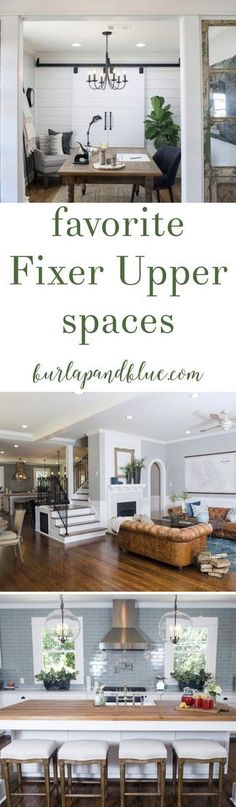 Love Fixer Upper? This post is for you! Sharing my favorite living room, kitchen, dining rooms, bedrooms and more in the rustic, farmhouse style that everyone loves!