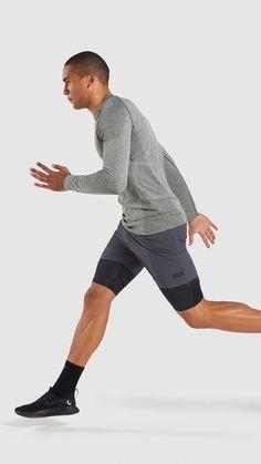 e868c22effa32 Gymshark Define Seamless Long Sleeve T-Shirt - Woodland Green Marl
