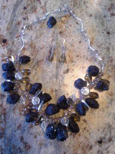 swarovski,lava beads