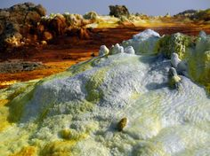 """""""As a photographer, one of my primary interests is how the life, culture and environment can be portrayed and shown in still images,"""" said Court. """"In Danakil, it wasn't hard too do this as everything is very dramatic and completely out of the ordinary. World's Most Beautiful, Beautiful Scenery, Sulphur Springs, John Muir, Still Image, Ethiopia, Geology, The Ordinary, Wilderness"""