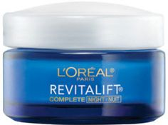 Loreal Paris Revitalift Night Cream: Moisturizer Cream:  My mother's secret! Different name but look for this packaging!