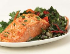 I served this Thai-glazed Salmon to guests for dinner recently - it was a big hit. Recipe from PCC Natural Markets reduce belly fat cups Zesty Salmon Recipe, Salmon Recipes, Fish Recipes, Seafood Recipes, Healthy Recipes, Seafood Dishes, Fish And Seafood, Sweet Chili, Seafood