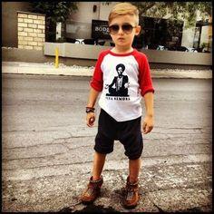 This little boy is so stinkin cute!!! Love the hair!!