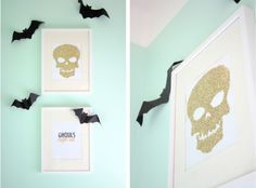DIY Glitter Skull Print- want this in my house year-round!