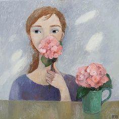 ARTFINDER: Hortensia by Galya Popova - Original artwork