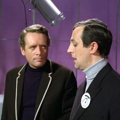 Patrick McGoohan and Anton Rodgers from 'The Schizoid Man' episode of THE PRISONER.