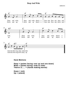 """We sang this in Sunday School.""""Deep and Wide"""""""