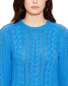 Aran-Knit Crewneck Sweater - Crew & Boatnecks  Sweaters - RalphLauren.com